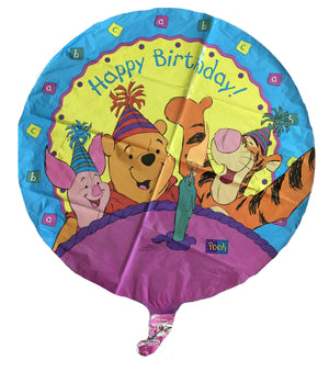 "Winnie The Pooh Happy Birthday Hats & Candle 18"" Party Balloon"