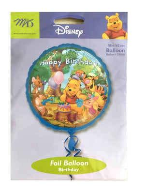 "Winnie The Pooh Happy Birthday Celebration 18"" Party Balloon"