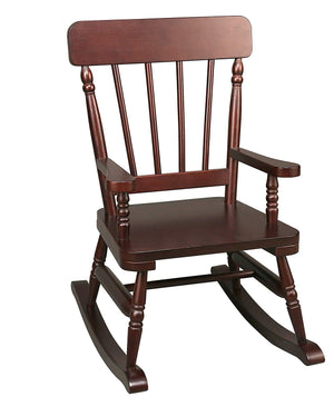 Solid Wooden Rocking Chair Kids Play Furniture - Five Finishes - White, Oak, Cherry, Maple, Espresso
