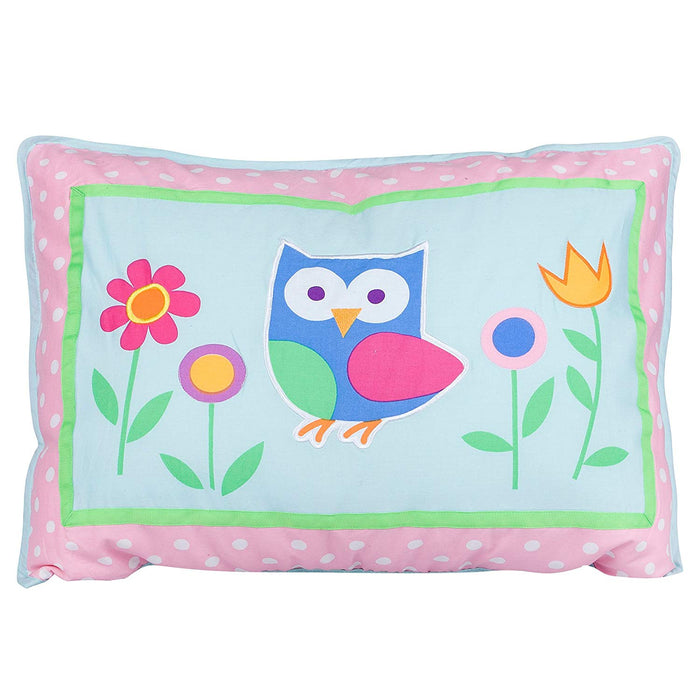 Blue & Pink Owl Pillow Sham for Girls