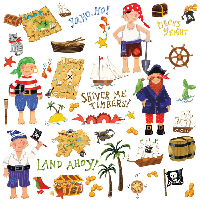Pirate Treasure Wall Decals Stickers Peel & Stick