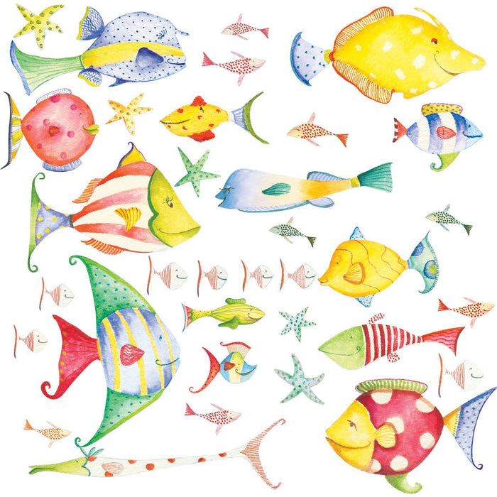 Tropical Fish Sea Creatures Peel & Stick Wall Decals Stickers
