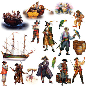 Pirates Peel & Stick Wall Decals Stickers Life-Like