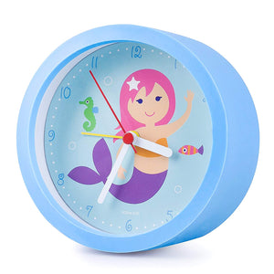 Mermaid Blue Alarm Clock 5""