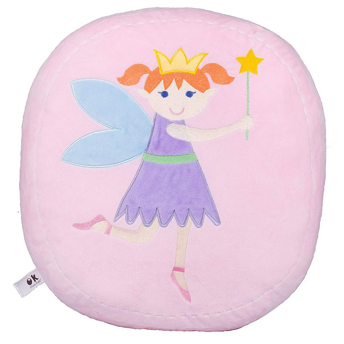 Fairy Princess Pink Round Plush Pillow 16""