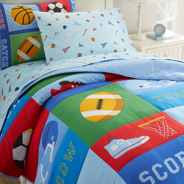Game On Sports Cotton Comforter Set Toddler Twin Full/Queen Kids Bedding or Duvet Cover
