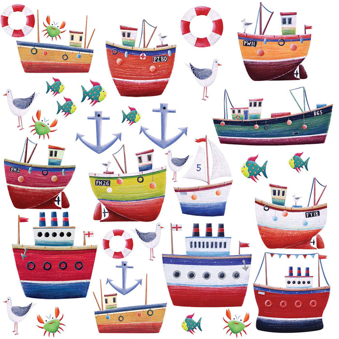 Kids Nautical Wall Decals Stickers Ships Boats Boys Room Decor