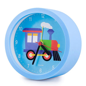 Train Blue Alarm Clock 5""
