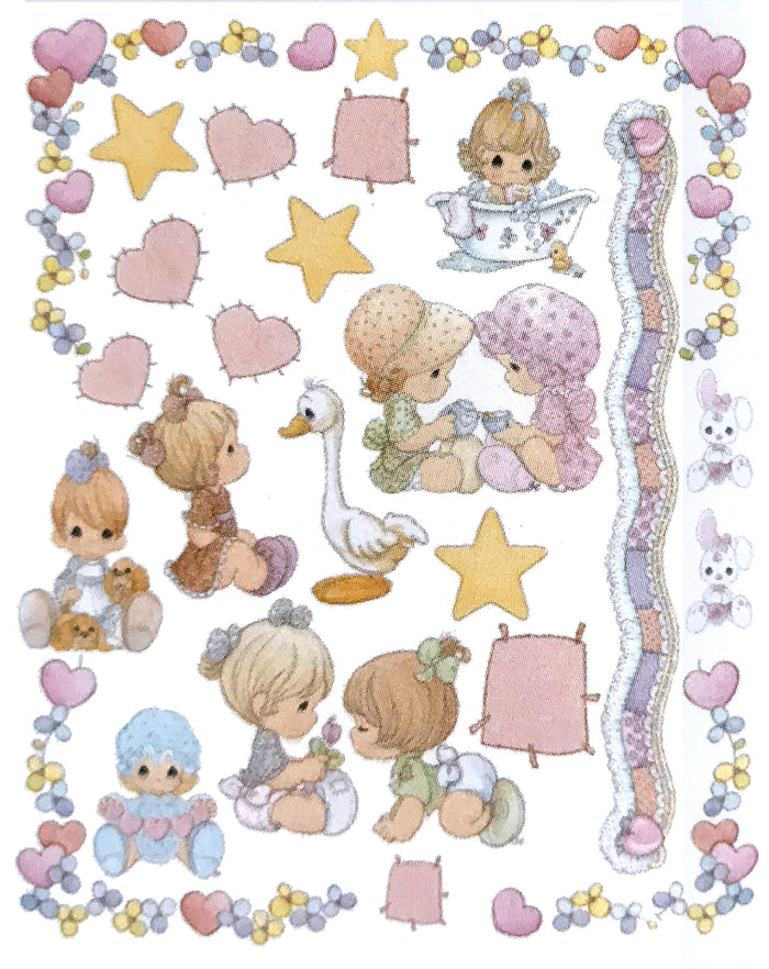 "Precious Moments Baby Girl Wall Stickers Decals 26"" x 20"" Sheet Peel and Stick"