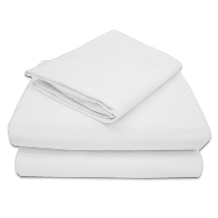 Solid White Bed Sheet Set Queen or King Soft Microfiber Polyester