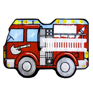 "Fire Truck Rug for Boys 25"" x 39"" or 31"" x 47"" Kids Room Area Floor Rugs"