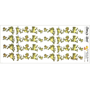 "Suzy's Zoo Happy Frogs Border Stickers Vintage Scrapbooking Sheet 5"" x 12"""