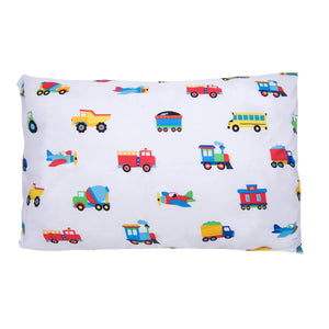 "Trains, Planes Trucks Microfiber Kids Pillowcase 20"" x 30"""