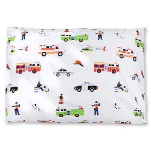 "Rescue Vehicles Heroes Microfiber Kids Pillowcase 20"" x 30"""
