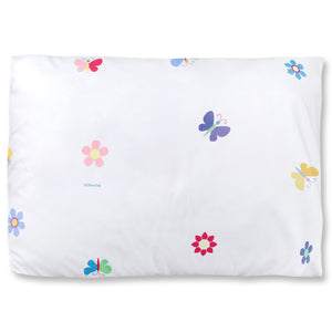 "Butterfly & Flower Garden Microfiber Kids Pillowcase 20"" x 30"""
