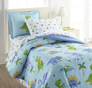 Dinosaur Land Cotton Comforter Set Toddler Twin Full/Queen Bedding or Duvet Cover