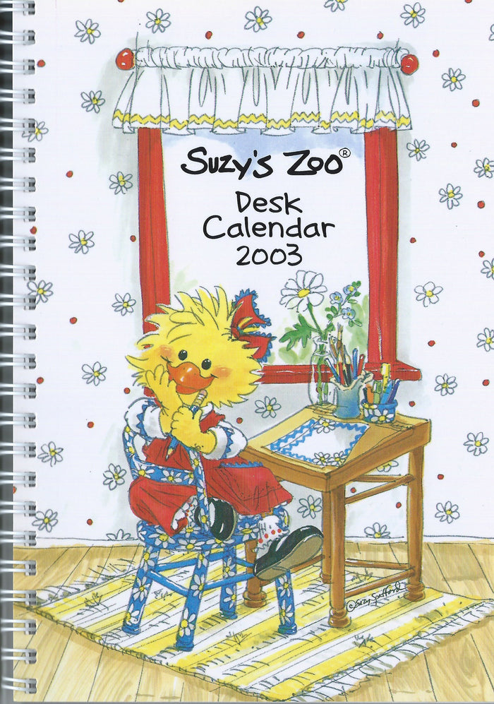 Vintage Suzy's Zoo Desk Collector's Calendar 2003