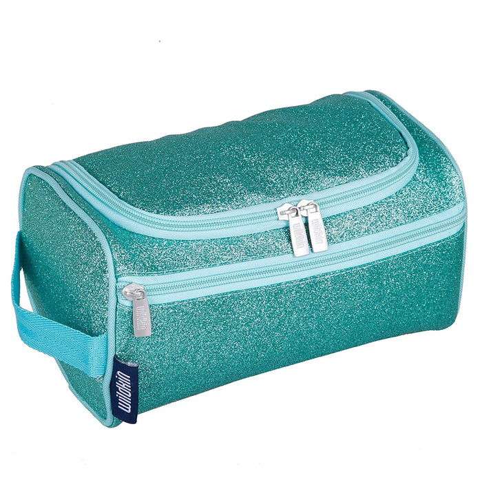 Turquoise Blue Glitter Toiletry Bag