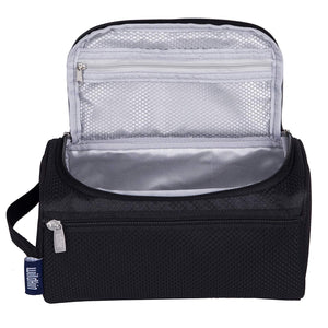 Rip Stock Black Toiletry Bag