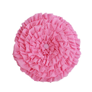 Lace Flower Round Pillow
