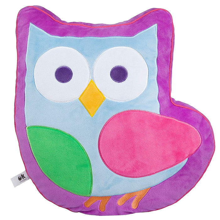 Pink Owl Shaped Plush Pillow 16""