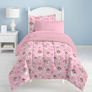 Pink Dreamy Ballerina Girl Bedding Twin or Full Comforter Set Bed in a Bag
