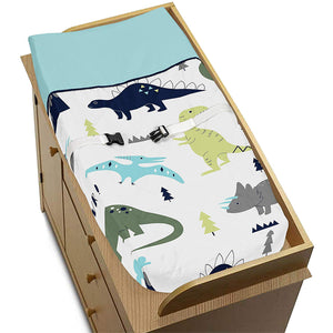 Blue Green Dinosaur Baby Changing Pad Cover