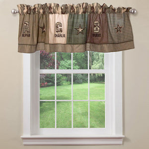 Army Military Camouflage Window Valance Green Khaki
