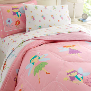 Pink  Princess Fairy Bedding Twin Full/Queen Comforter Set or Duvet Cover