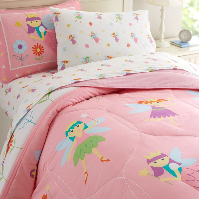 Pink Princess Fairy Cotton Comforter Set Twin Full/Queen Bedding or Duvet Cover