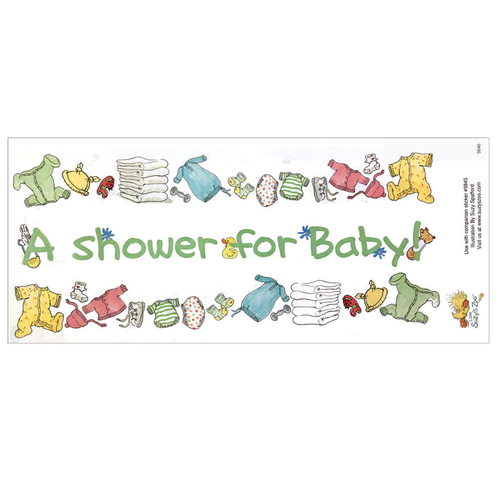 "Little Suzy's Zoo Baby Shower Border Stickers Vintage Scrapbooking Sheet 5"" x 12"""
