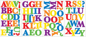 Colorful Alphabet Letters Wall Stickers Decals Kids Room Decor