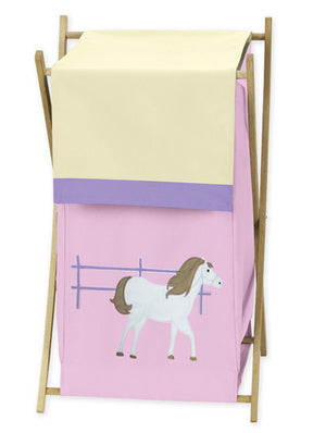 Pink Pony Horse Clothes Laundry Hamper Basket for Girls