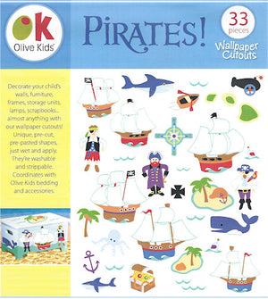 Pirates and Pirate Ships Wallies Wallpaper Cutouts Decals