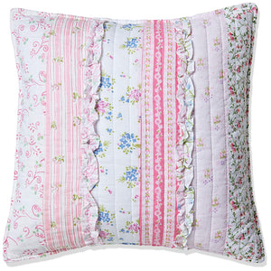 "Pink Chic Lace Cotton Decorative Throw Pillow 16"" x 16"""