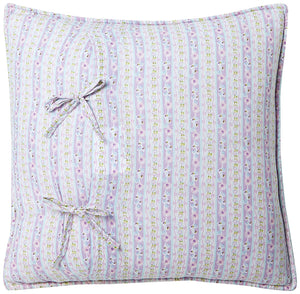 "Lavender Chic Lace Cotton Decorative Throw Pillow 16"" x 16"""