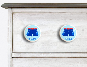 "Boy Shorts 2"" Ceramic Drawer Knob - Set of 2"