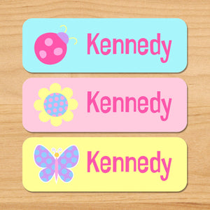 Butterfly Garden Personalized 33 CT Rectangle Waterproof Labels