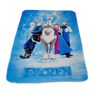 "Disney Frozen Lightweight Plush Blanket Kids Throw 47"" x 61"""
