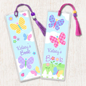 Butterfly Garden Personalized 2 PC Bookmark Set