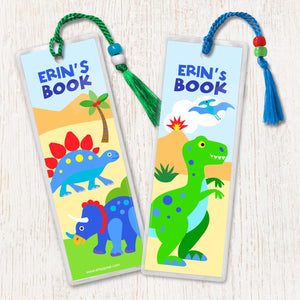 Dinosaur Lane Personalized 2 PC Bookmark Set