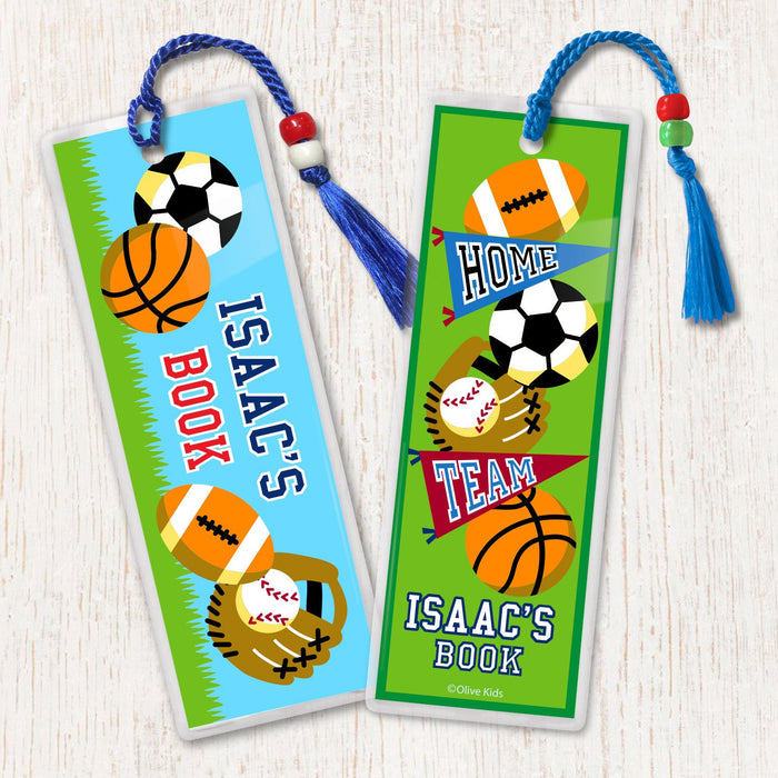 Game On Sports Personalized 2 PC Bookmark Set