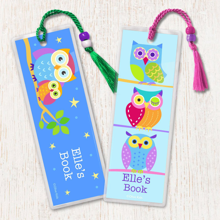 Owls Personalized 2 PC Bookmark Set
