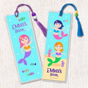 Mermaids Personalized 2 PC Bookmark Set