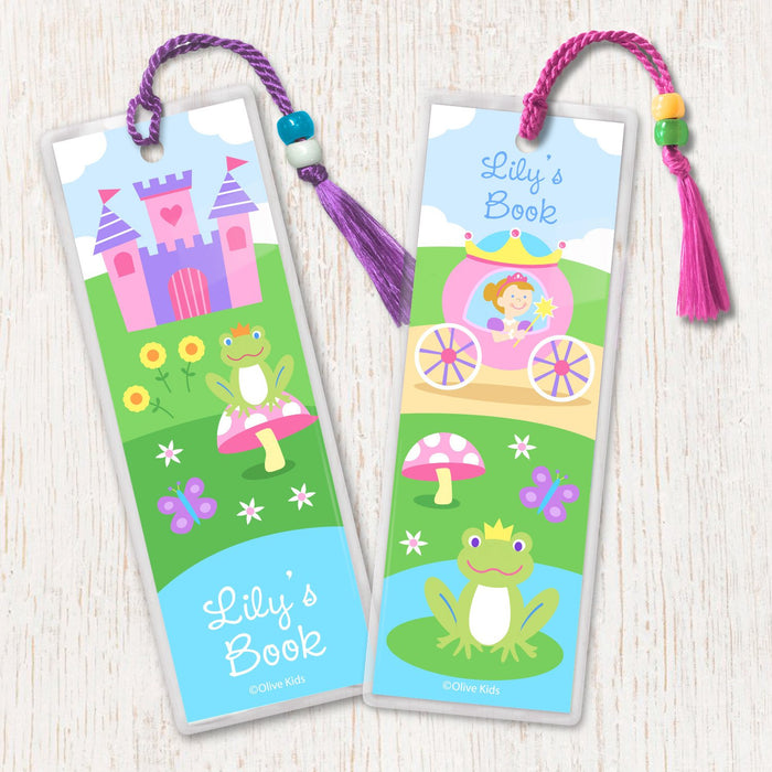 Princess & Castle Personalized 2 PC Bookmark Set