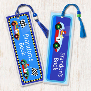 Racing Sports Cars Personalized 2 PC Bookmark Set