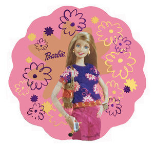 "Modern Barbie Giant Flower-Super-Shaped 30"" Birthday Party Balloon"
