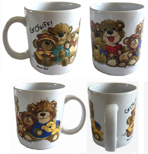 Suzy's Zoo Bears of Duckport Nine Old Bears Vintage Ceramic Mug