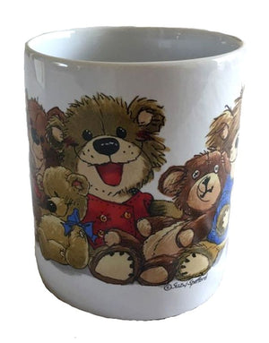 Suzy's Zoo Bears of Duckport Nine Old Bears Vintage Ceramic Collectible Mug