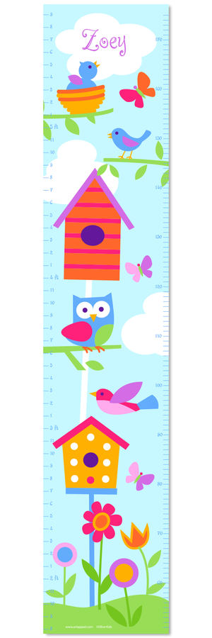 Birds Self-Adhesive Growth Chart